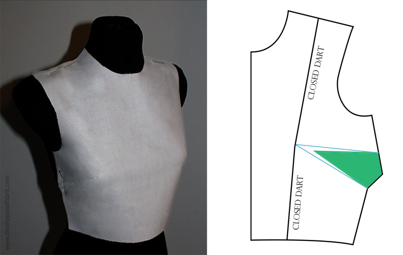 bodice with french darts