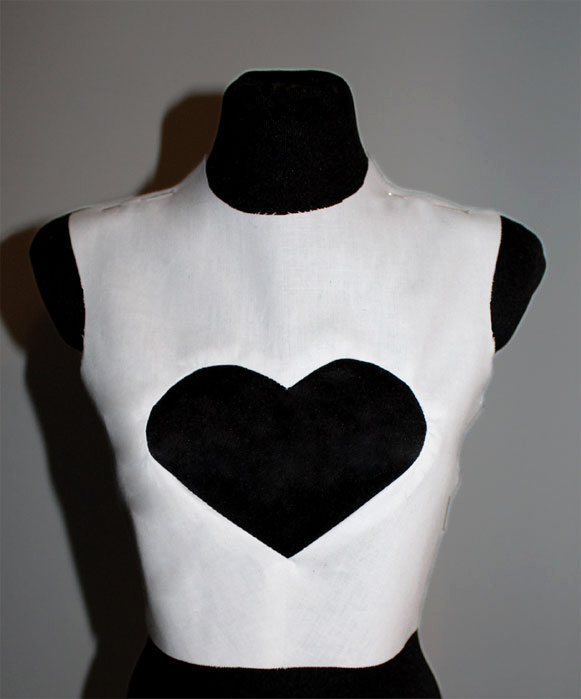 bodice with a heart shape