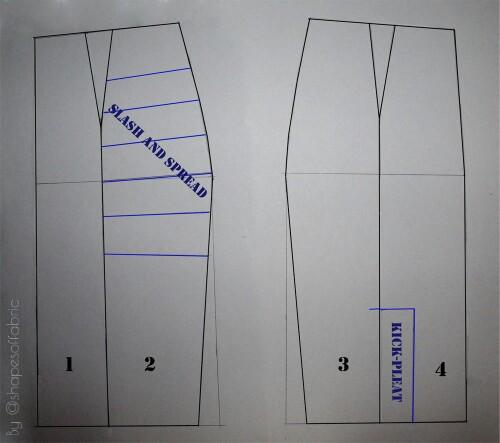 pencil skirt draft