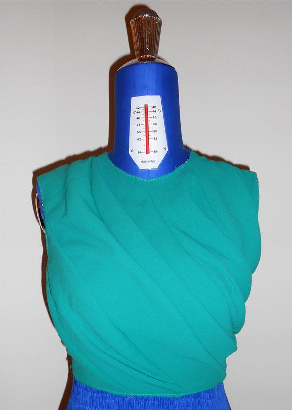 draped bodice