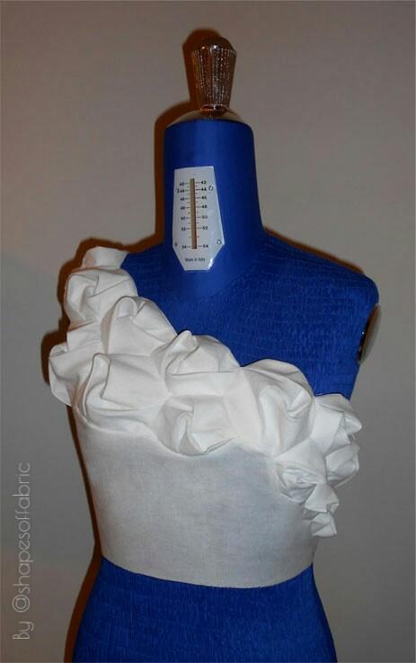 twisted drape bodice