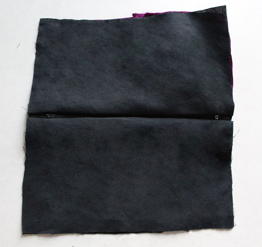 zipper attached to the lining