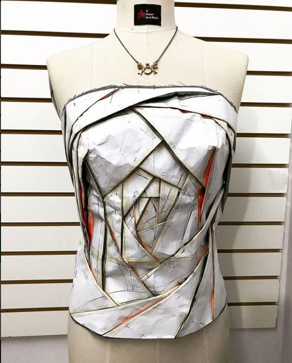 origami vortex corset