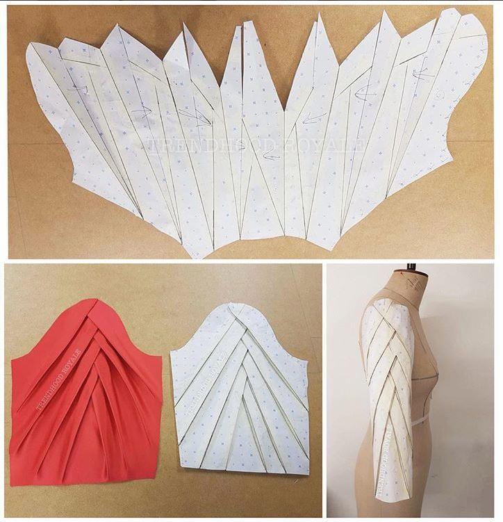 origami sleeve pattern