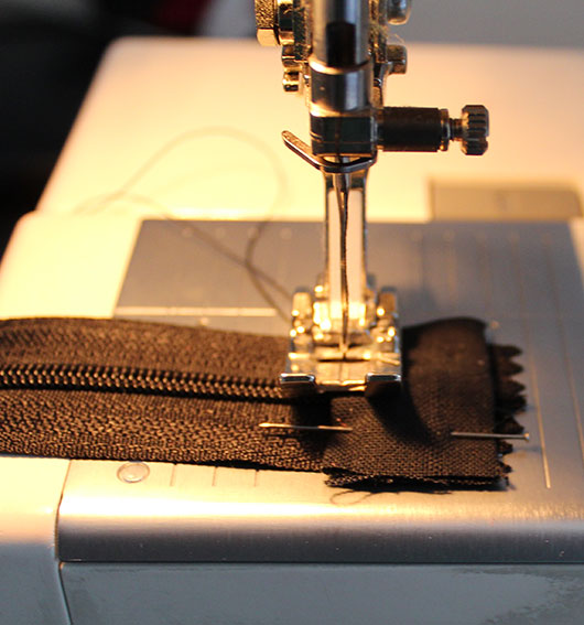 sewing zipper tabs