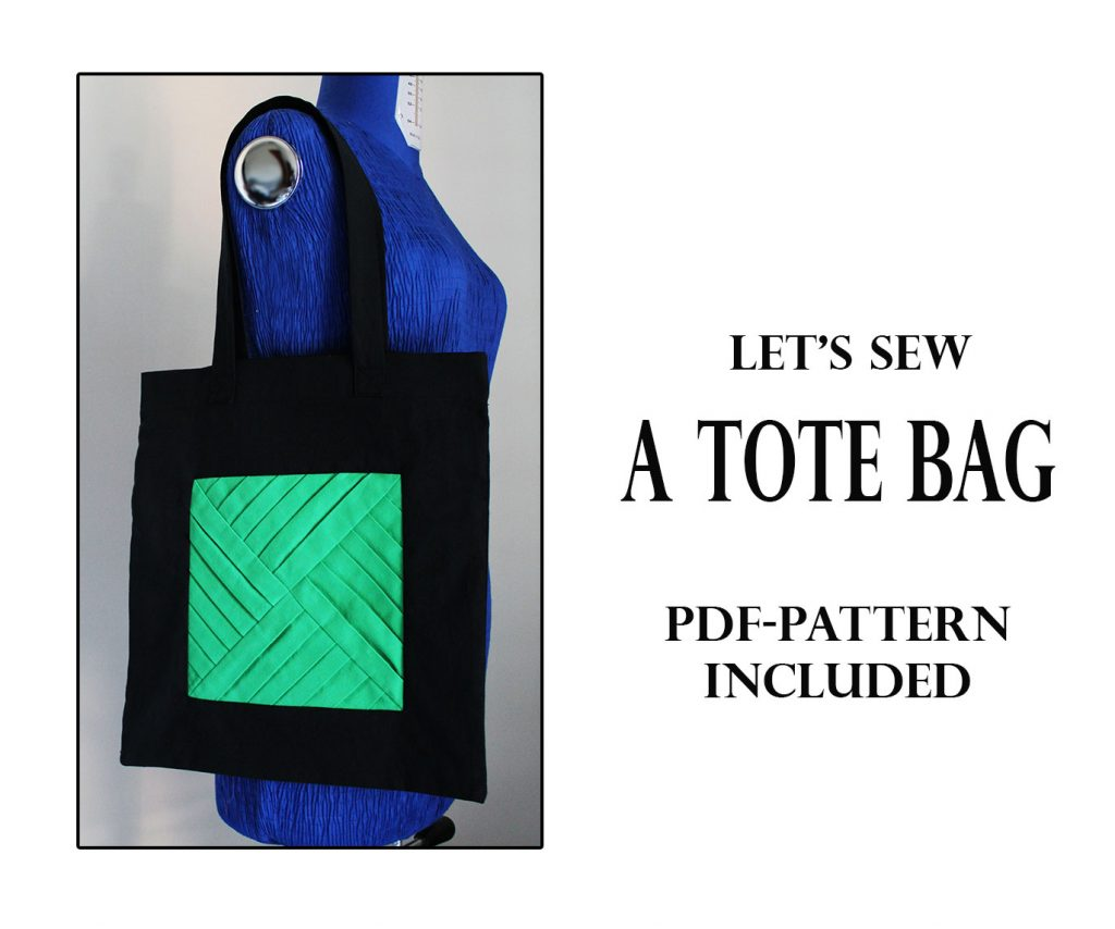 pleated tote bag tutorial