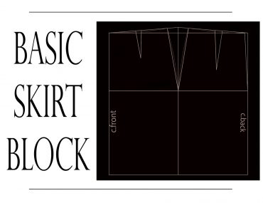 How to draft the basic skirt pattern