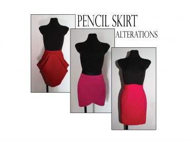 Learn pencil skirt pattern alterations