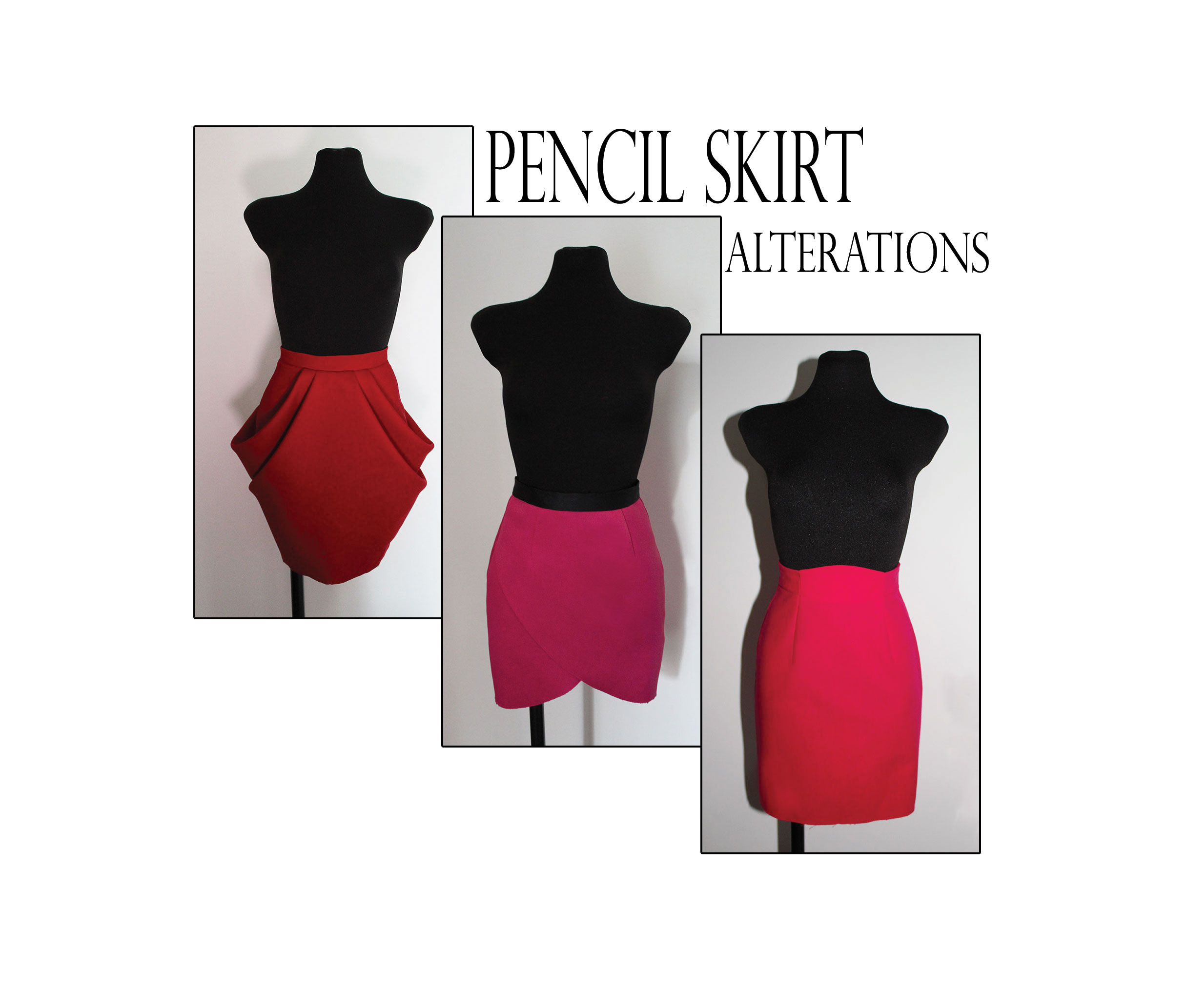 Learn Pencil Skirt Pattern Alterations The Shapes Of Fabric