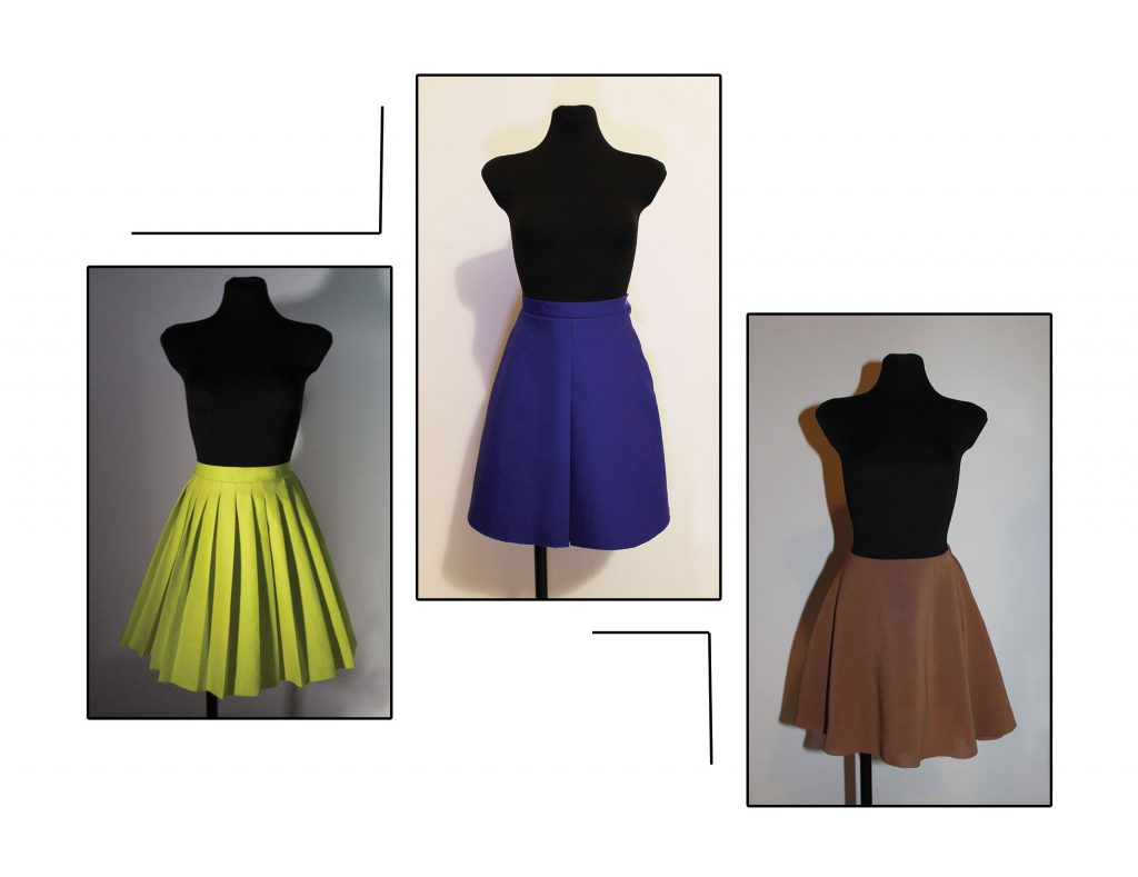 tutorial: how to draft flared and pleated skirts
