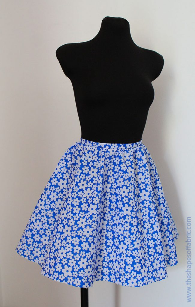 gathered half circle skirt