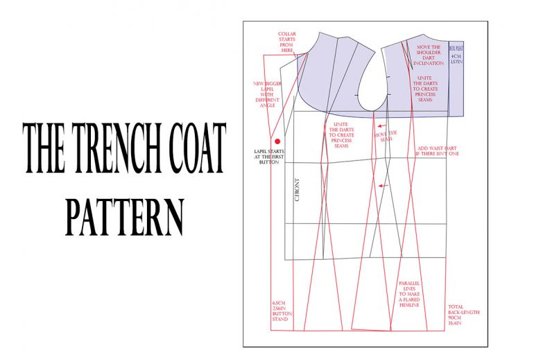 how to draft trench coat pattern