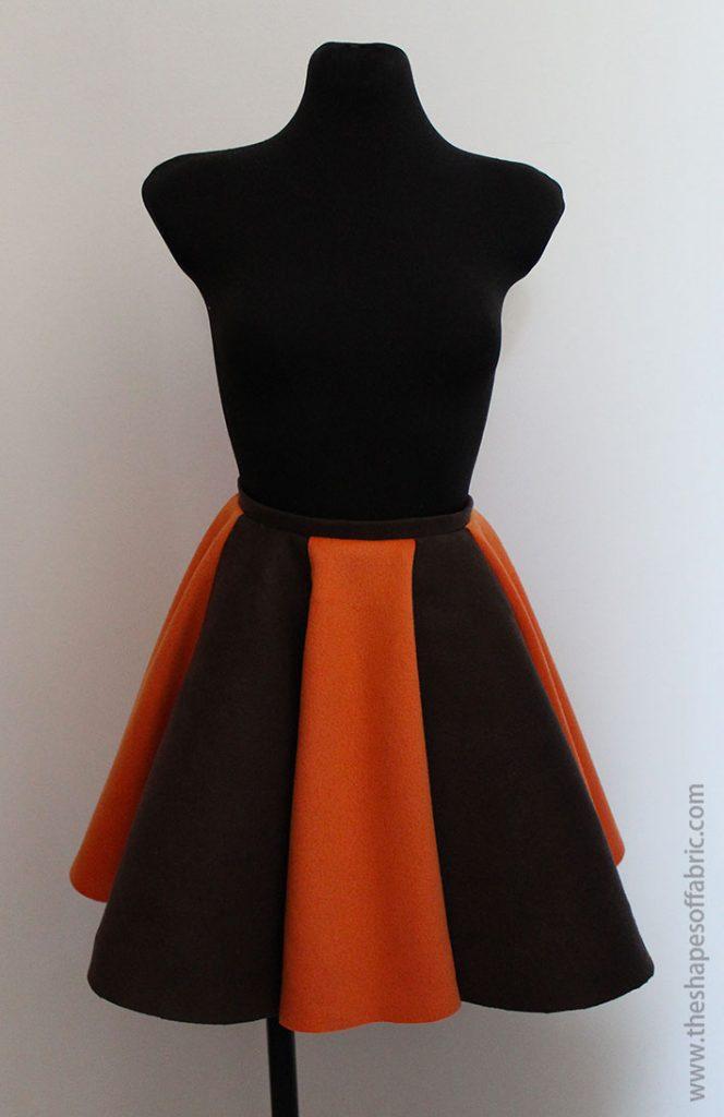6 panel circle skirt