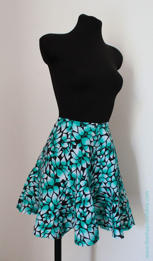 6 panel circle skirt with godets