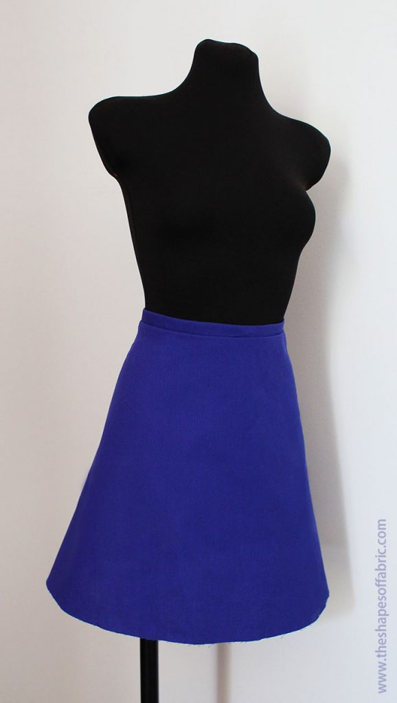 1/4 circle skirt