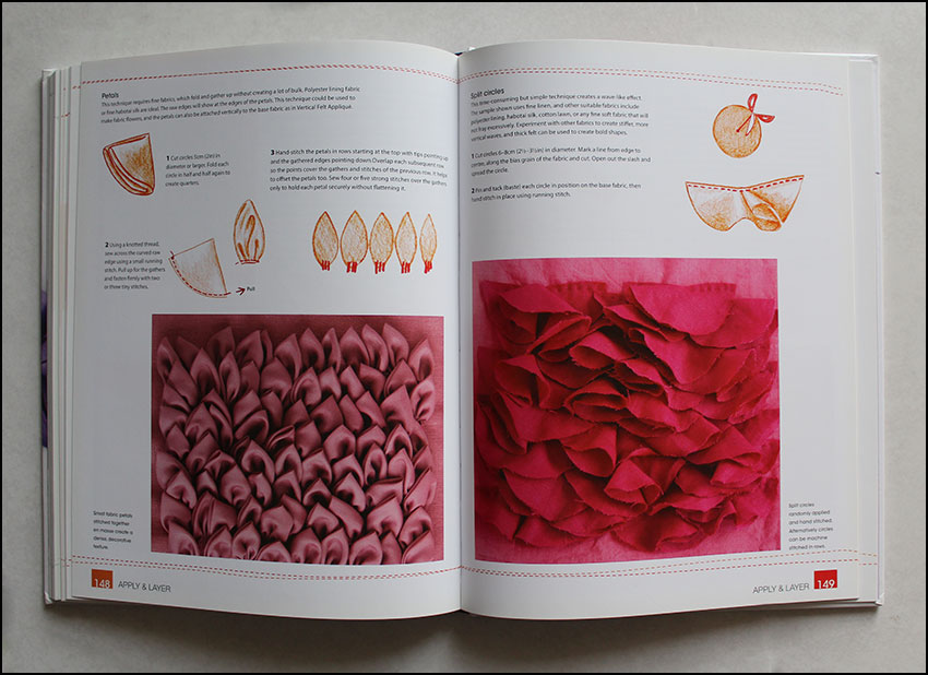 3D appliques from Fabric Manipulation -book