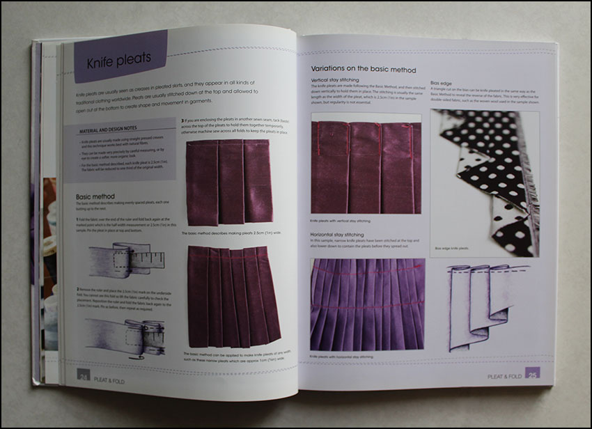 Knife pleats from Manipulating Fabric -book