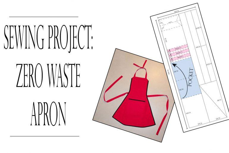 zero waste apron tutorial cover