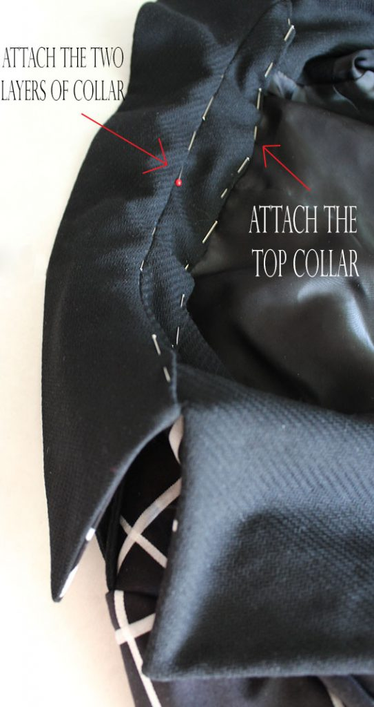 attaching coat collar