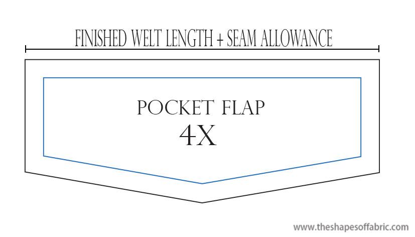 welt pocket flap pattern