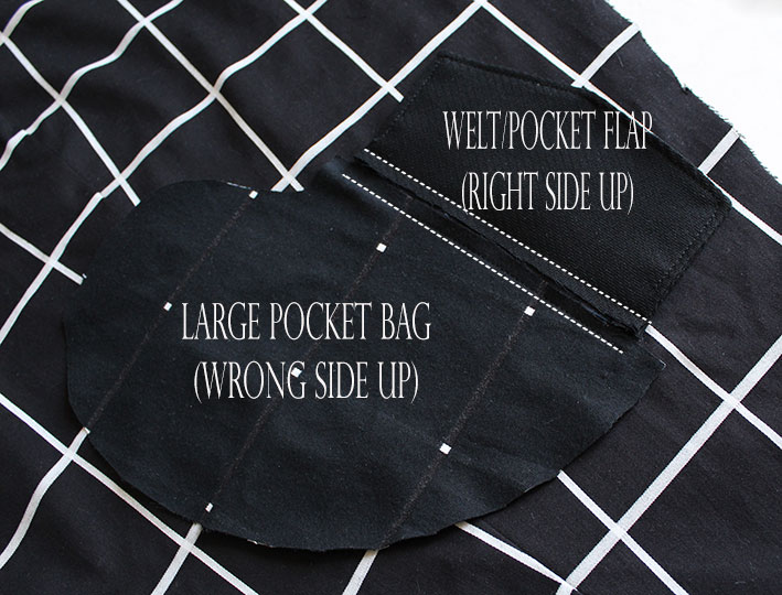 sewing a coat pocket