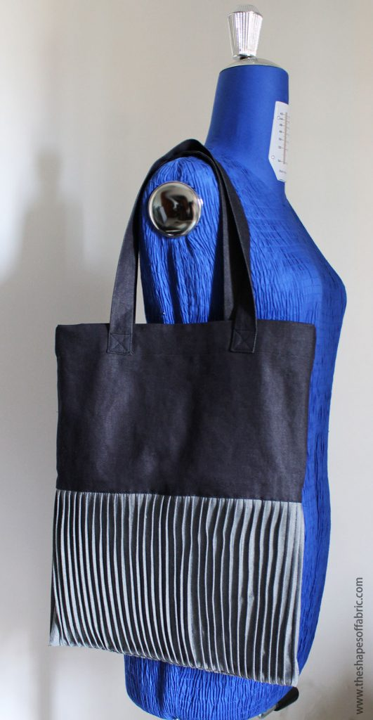 tote bag with decorative  tucks