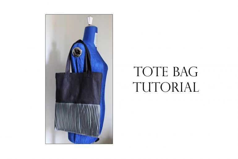 tote bag and pin tuck tutorial