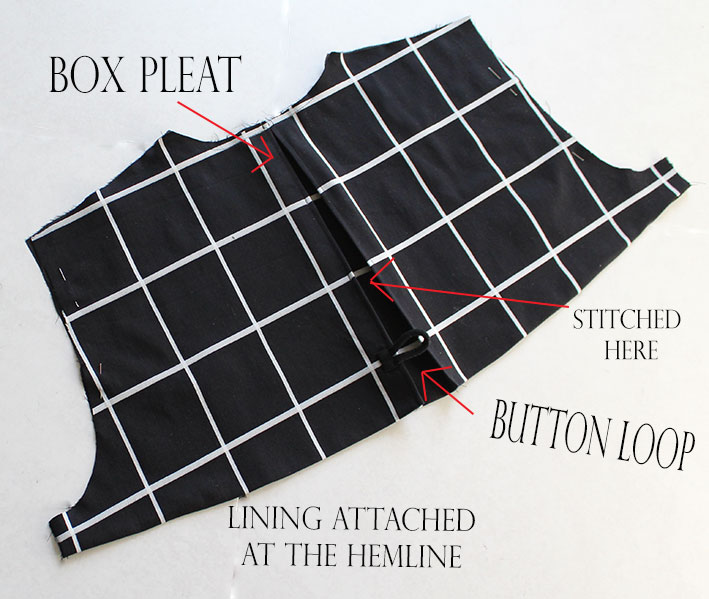 sewing trench back flap