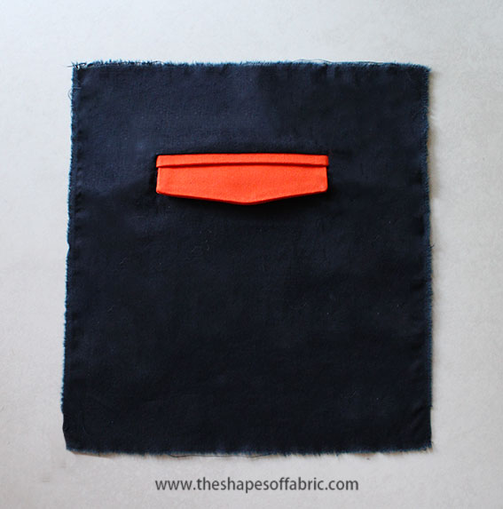 double welt pocket with a flap