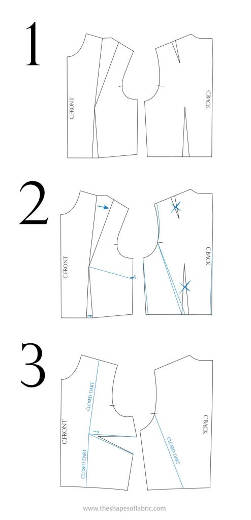 summer dress pattern: dart manipulation