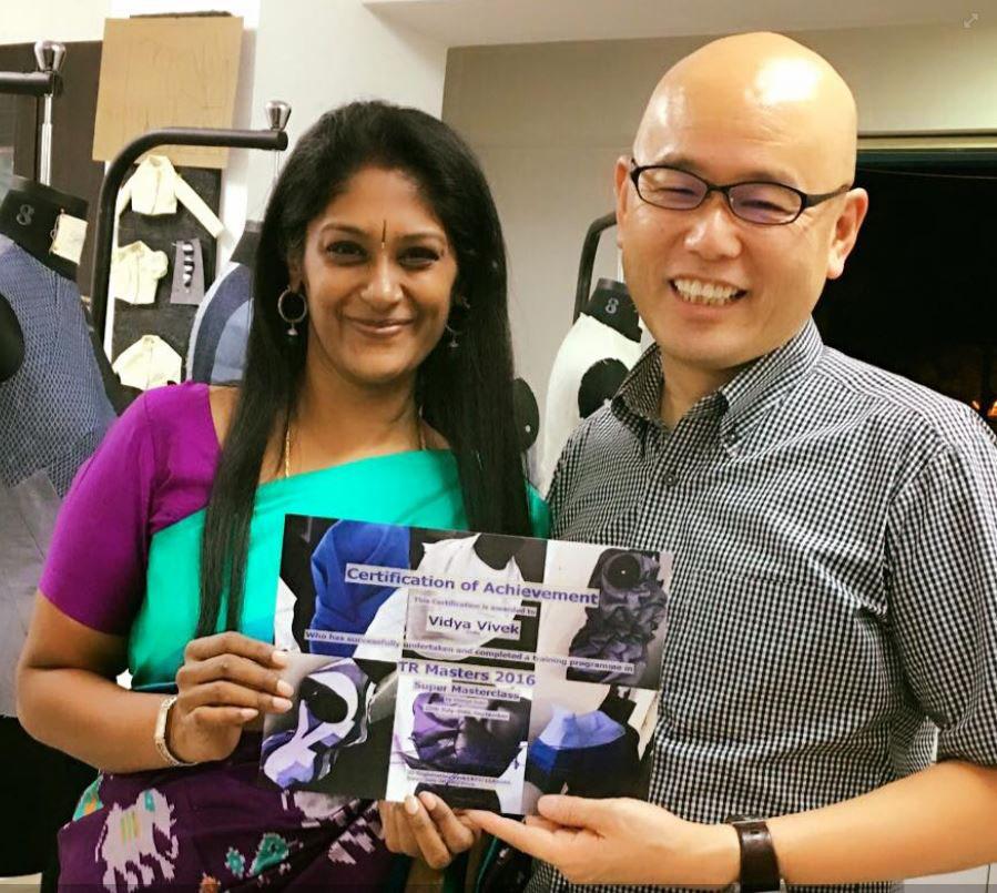 Vidya Vivek with Shingo Sato