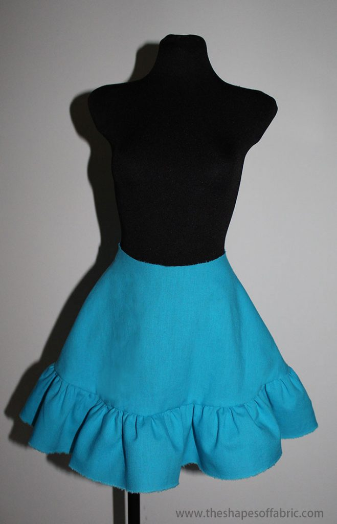 flared skirt with a ruffle