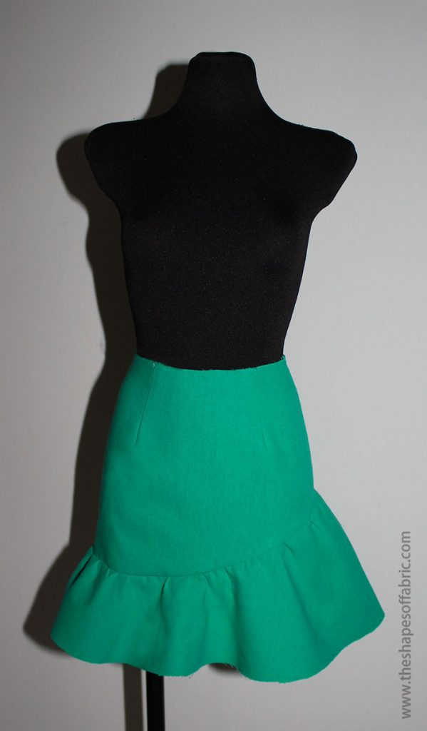 skirt with a ruffle
