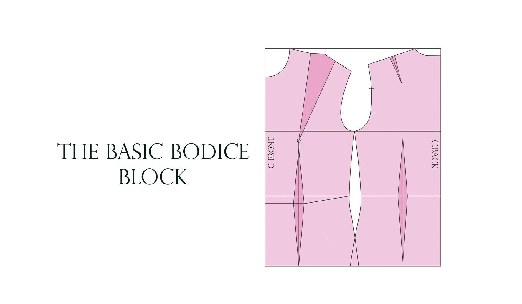 How To Draft The Basic Bodice Pattern The Shapes Of Fabric