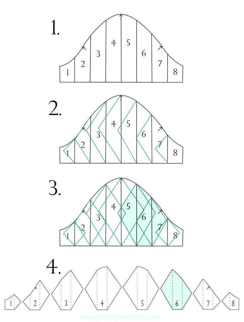 Sculptural panel sleeve pattern: triangle