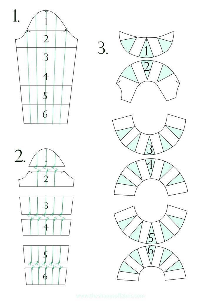 Lantern sleeve pattern