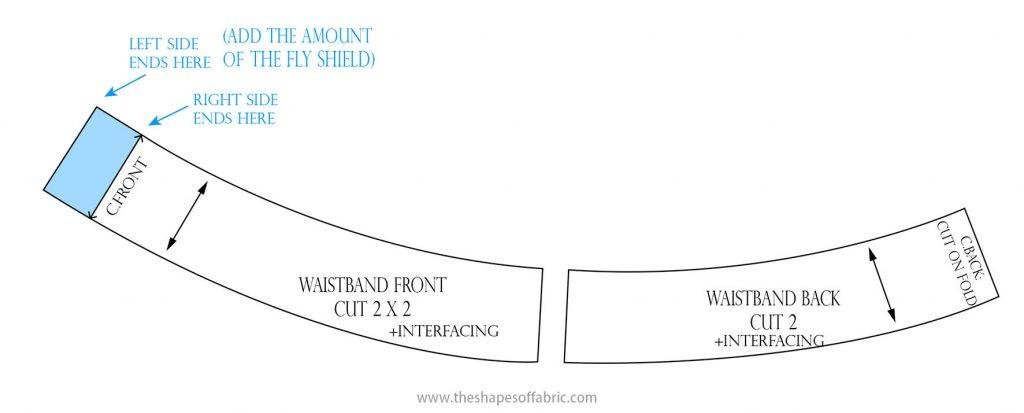 contoured waistband pattern