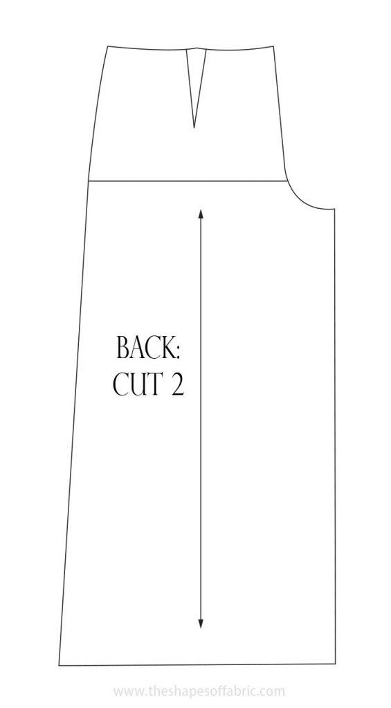culottes pattern back piece