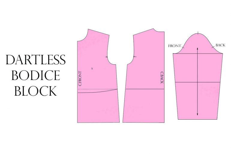 dartless bodice block tutorial