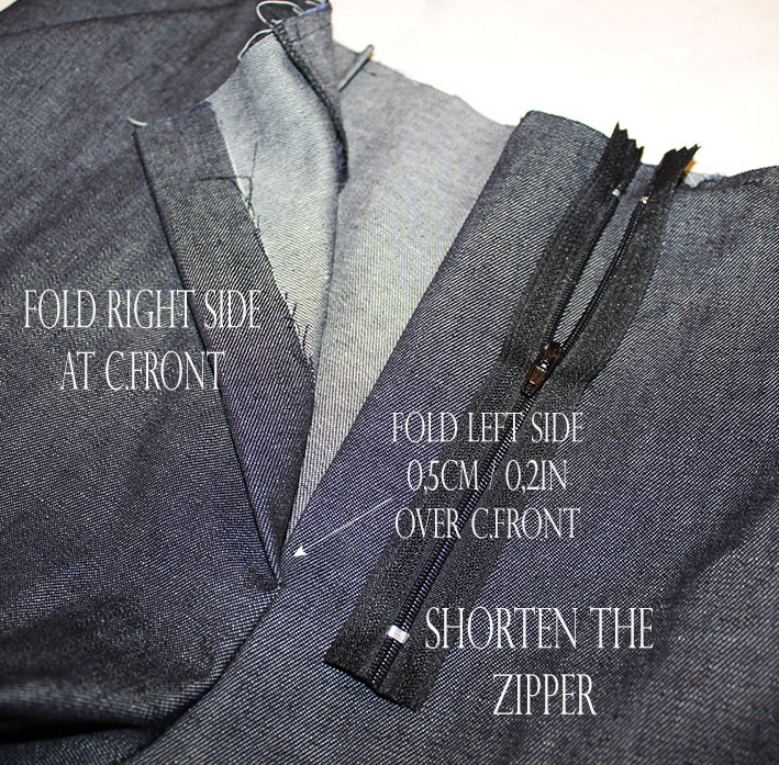 sewing fly front zipper: the starting point