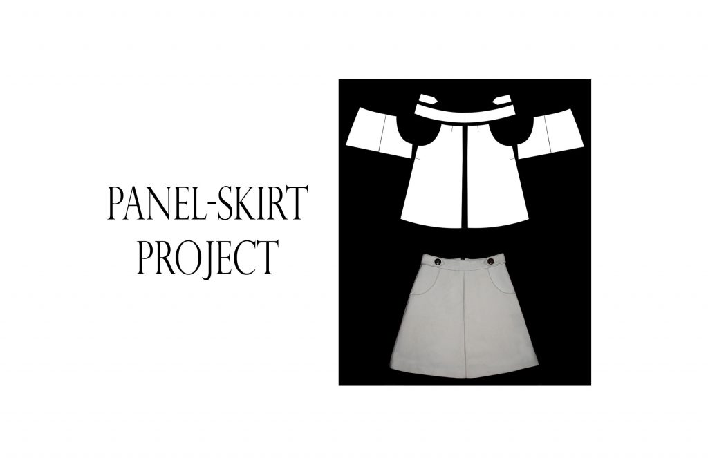 how to draft 4 panel skirt pattern
