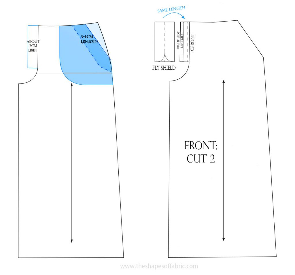 culottes pocket and fly front zipper pattern